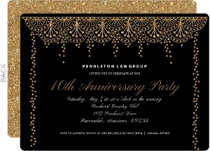 Formal Glam Business Anniversary Invitation
