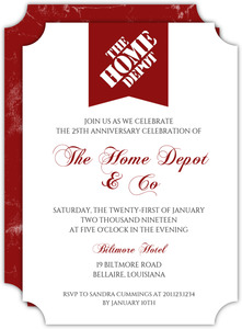 Red Modern Banner Business Anniversary Invitation