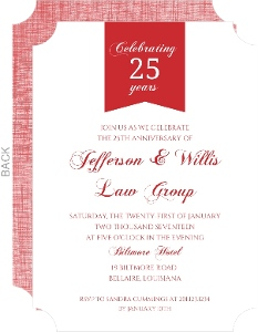 custom business anniversary invites and invitiations
