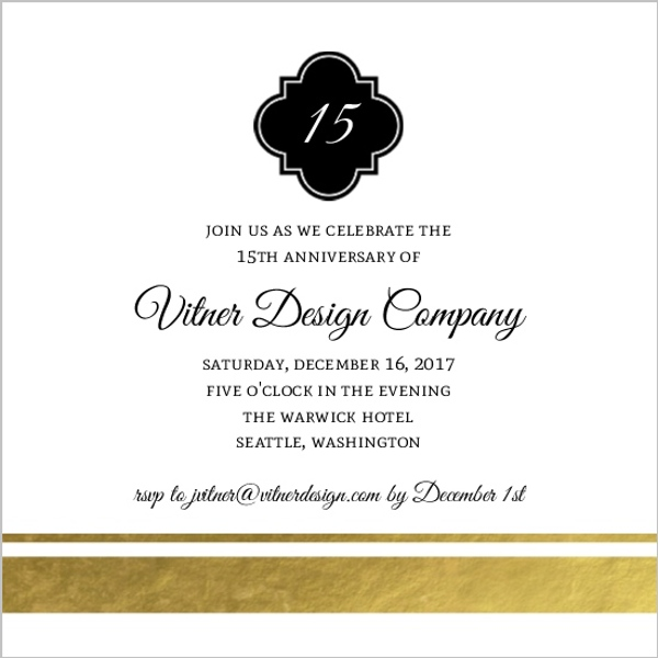 Classic black and gold foil business anniversary invitation classic black and gold foil business anniversary invitation stopboris Images