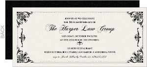 Formal Frame Business Anniversary Invitation