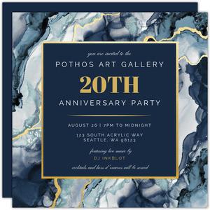 Custom Business Anniversary Invites And Invitiations Purpletrail
