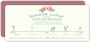 Weekend Itinerary Bachelorette Party Invitation