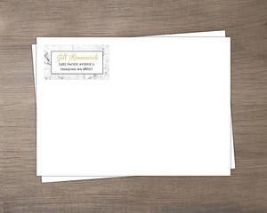 Gold Photo Frame Antique Custom Envelope