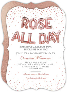Rose All Day Bachelorette Party Invitation