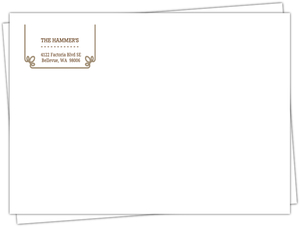 Brown Western Rope Invitation Envelope