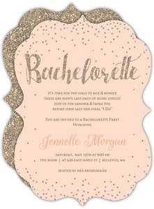Champagne Faux Glitter Bachelorette Party Invitation