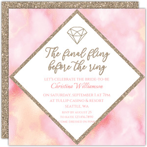 Final Fling Printable Bachelorette Party Invitation