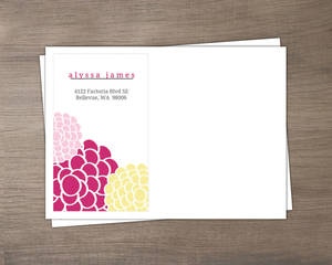 Pink And Yellow Whimsical Flowers Baby Shower Envelope