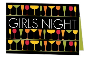 Girls Night Drinks Bachelorette Party Invitation