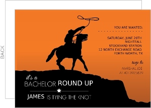 Wild West Bachelor Party Invitation