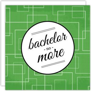 Green Retro Pattern Bachelor Party Invitation