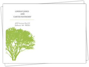 Modern Rustic Gray And White Tree Address Label Envelope