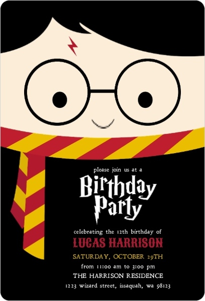 cute wizard birthday party invitation kids birthday invitations