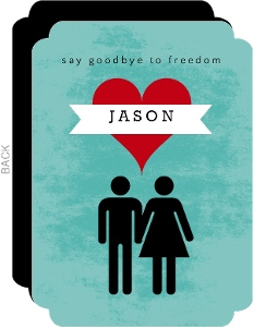 Say Goodbye To Freedom Bachelor Invitation