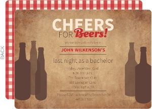 Rustic Beer Bachelor Party Invitation