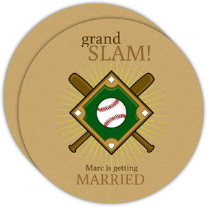 Baseball Theme Bachelor Party Invitation