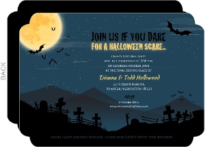 Dark Night Halloween Party Invitation