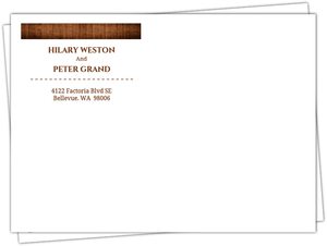 Wooden Picture Perfect Love Address Label Envelope
