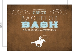 Western Cowboy Bachelor Party Invitation
