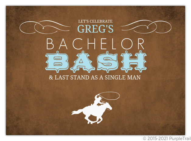 Western Cowboy Bachelor Party Invitation Bachelor Party Invitations