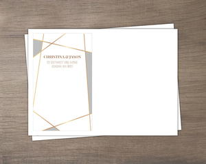 Modern Geometric Frame Custom Envelope