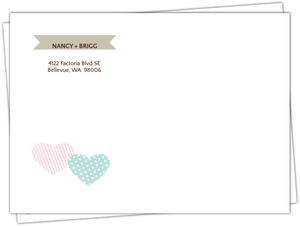 Two Hearts Whimsical Wedding Invite Envelope