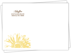 Simple Sunflower Brown And Yellow Full Envelope