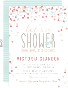 Cute Confetti Bridal Shower Invitations