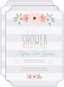 Blush Pink Floral Bridal Shower Invitation