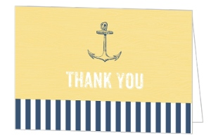 Anchors Away Bridal Thank You