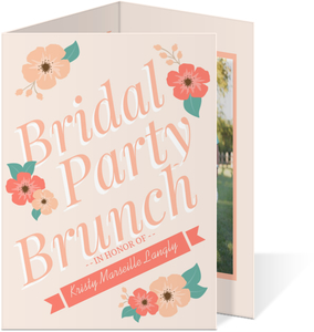 Sweet Peach Floral Bridal Party Brunch