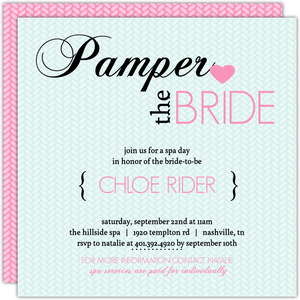 Pampered Pink and Blue Spa Party Invitation