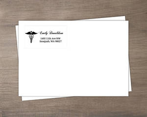 Simple Black and White Nurse Custom Envelope