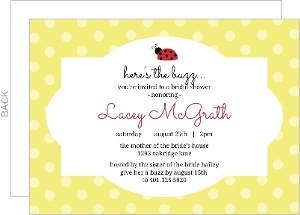 Lady Bug Bridal Shower Invitation