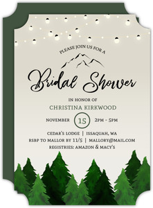 Rustic Outdoor Bridal Shower Party Invitation