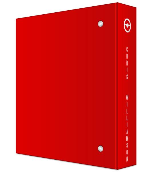 Red & White Ball Mini 3 Ring Binder