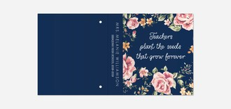 Teachers Plant The Seeds Teacher 3 Ring Binder