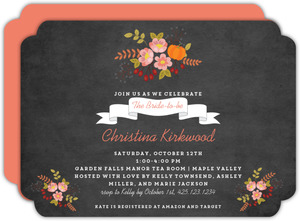 Autumn Floral Bridal Shower Invitation