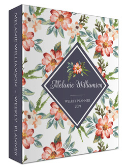 Delicate Watercolor Floral 3 Ring Binder Planner