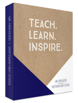 Teach Learn Inspire Teacher 3 Ring Binder