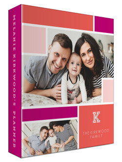 Colorblock Photo 3 Ring Mom/Family Planner