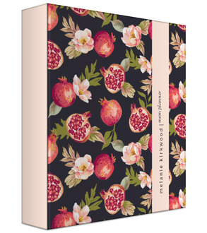 Pomegranate and Florals 3 Ring Binder Mom Planner