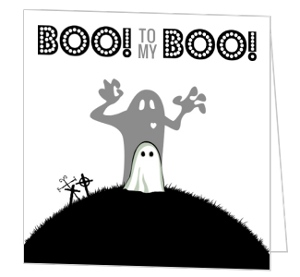 Boo Halloween Greeting Card