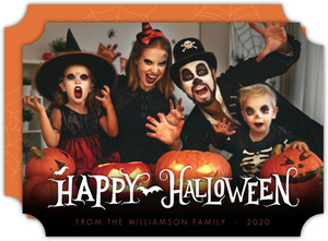 Family Photo Happy Halloween Greeting Card