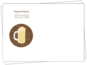 Brown Beers Cheers 40Th Birthday Invitation Envelope