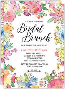 8b6f5b57c4ab Colorful Watercolor Floral Bridal Shower Invitation