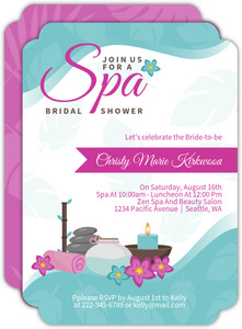 Pampered Pink Spa Party Invitation