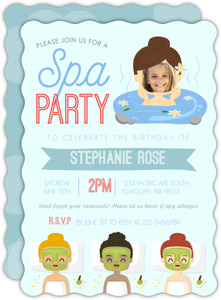 Fun Spa Birthday Party Invitation