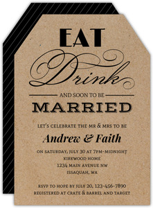 Soon To Be Married Couples Shower Invitation